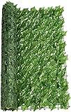 Green Leaf Fence Simulation Zaun Hofdekoration Kunststoff Künstlicher Efeugarten für Gartengarten im Freien