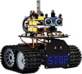 KEYESTUDIO Mini-Tankroboter V2.0 Smart Car Kit, Licht/Ultraschall Follow, Infrarot & Bluetooth Fernbedienung, Elektronisches DIY Robotik-Set