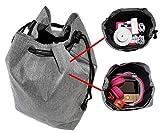 Transport-Tasche für Musikboxen Musikwürfel - z.B. geeignet für Toniebox und Tigerbox Touch - GRAU - Beutel Transport Tasche Reisetasche Box Koffer Case Aufbewahrung - MIND CARE ESSENTIALS (v2)