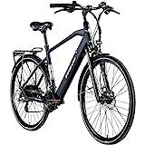 Zündapp Z810 Herren E-Bike Trekkingrad Pedelec E-Trekkingrad Fahrrad Trekking Bike StVZO (schwarz, 52 cm)