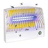 Gardigo Klebefalle   UV Insektenvernichter gegen Mücken, Fliegen   Hygienische Insektenfalle mit gelber Klebefläche   Reichweite 70 m²