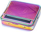 Automatische Zigaretten-Drehbox, 70 mm, manuelle Zigaretten-Tabak-Drehmaschine, tragbare Metallbox zum Rollen von Tabak, Smoking Roller und Aufbewahrungsbox (bunt)