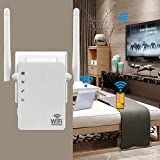 WLAN-Repeater, 1200 Mbps, WLAN-Verstärker, leistungsstark, Booster WLAN, Dual-Band 5 GHz/2,4 GHz, mit Ethernet-Port, Router und Repeater, kompatibel mit allen Internet-Box