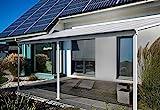 Home Deluxe - Terrassenüberdachung weiß - Maße 312 x 303 x 226/278 cm | Wintergartendach Verandaüberdachung V