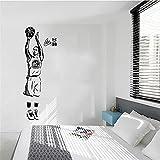 Sportstar Basketballspieler Wandaufkleber Stephen Curry Aufkleber Jungen Zimmer und Schule Wandaufkleber Wandbild A4 57x148cm