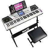RockJam 61 Tastatur Klaviersatz 61 Schlüssel-Digital-Piano Keyboardbank Keyboardständer Kopfhörer Klavier Aufkleber Note & einfach Klavier Anwendung