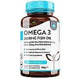 Omega 3 -Fischöl 2000 mg (660 mg EPA & 440 mg DHA) pro Portion - 240 hochdosierte Kapseln – reines Fischöl aus nachhaltigem Fischfang – getestet/zertifiziert in Deutschland – Hergestellt von N
