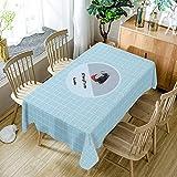 Waschbare Baumwoll-Staubdichte Tischdecke für Hochzeitsbankett, eine Vielzahl von Stilen sind erhältlich 140x240cm Stil I