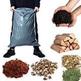 Calzette 5x Gartensäcke Abfallsäcke Extra Stark 100 Micron - Schuttsäcke für Bauarbeiten, Gartenabfälle