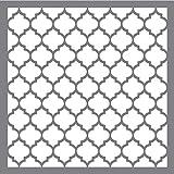 Rayher 38968000 Schablone Waben klassisch, 30,5 x 30,5 cm, Wabengröße ca. 3,6 x 4 cm, Polyester, lasergeschnitten, biegsam, wiederverwendbar, Malschablone, Wandschab