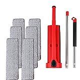 PrittUHU Freie Hand Waschen Wohnung Mopp Lazy 360 rotierende Wischmop mit Quetschen starker Wasserabsorption Bodenreiniger Haushaltsreinigung (Color : 6pcs rag red)