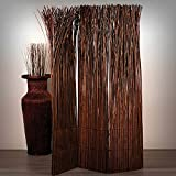 Design RAUMTEILER Nature | 160x120 cm (LxB), Weidenholz, braun | Raumtrenner, Trennwand,