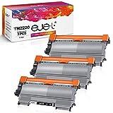 ejet Kompatibel Tonerkartusche als Ersatz für Brother TN2220 TN-2220 TN2010 TN2010 MFC-7460DN HL-2250DN HL-2130 HL-2270DW HL-2240D MFC-7360N FAX-2840 HL-2240 DCP-7065DN HL-2132 (Schwarz, 2er-Pack)
