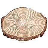 Unvollendete Holzkreise, für Dekorationen, natürliches unfertiges Holz, Ornamente Zubehör(29 * 26)
