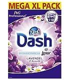 Dash Dash 2in1 Waschpulver und Weichspüler Lavendel und Kamille - 110 Waschungen, 7670 g