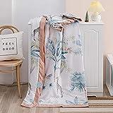 Hochwertige Sommerdaunendecke,Handtuchdecken aus weicher Baumwolle, Sommerdecke Bettdecke Tagesdecke L 150 * 200cm