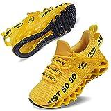 Vivay Turnschuhe Jungen Wasserdicht Wanderschuhe Sneakers Kinder Trekking Schuhe Outdoor Sportschuhe Laufschuhe,2Gelb,37 EU
