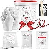 Jadiela 3D Handabdruck Set für Paare - Alginat Gipsabdruckset - Partner und Pärchen Geschenke für Erwachsene als Muttertag, Hochzeitstag, Jahrestag-Geschenk für Sie und Ihn