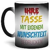 Tasse selbst gestalten/mit eigenem Text beschriften/Wunsch-Name/Spruch-Tasse/Zaubertasse Matt/Links & Rechts vom Henkel Bedruckt