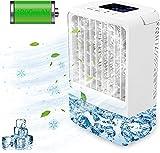 Mobile Klimaanlage,EEIEER USB Klimaanlage Tragbar 4in1 Mini Klimaanlage Klimagerät Mobil Luftkühler Persönliche Klimaanlage mit LED Bildschirm,Luftbefeuchter Ventilator Tischventilator Nebelventilator