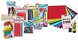 folia 50999 - Bastelset XXL, über 1.300 Teile inklusive Kleber, Kreativset für Kinder und Erwachsene