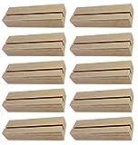 BO-LIFE 10 Stück Fotohalter/Kartenhalter aus Holz sind funktional. Die Tischkartenhalter sind dekorativ und stehen sicher.