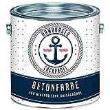 Betonfarbe SEIDENMATT Schiefergrau RAL 7015 Grau Bodenfarbe Bodenbeschichtung Betonbeschichtung Fassadenfarbe // Hamburger Lack-Profi (1 L)