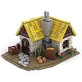 KOAEY Haus Bauernhaus Bausteine, 1025 Stück MOC-58003 Mittelalter Bauernhof Haus Bausatz Spielzeug Kompatibel mit Lego 21325