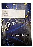 Lehrberichtsheft Musik (Gruppen- und Einzelunterricht) | für Musikschulen und Musiklehrer | DIN A4