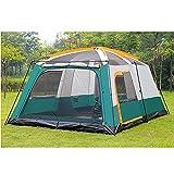 ROM Geräumiges Familienzelt für 10 Personen, Campingzelt im Freien, Regenschutzzelt, übergroßes Zelt, multifunktionales Campingzelt, das für Familienessen im Freien verwendet