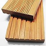 Home Deluxe - Holz Terrassendiele Sibirische Lärche - Inkl. Unterkonstruktion und Montagematerial | Terrassenboden Poolumrandung Balkonbelag (4 m²)