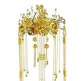 RXHTT Braut Krone Headwear Show Wo Anzug Chinesischen Hochzeitskleid Haarschmuck Geliebten Freundin Frau Halloween Geburtstag Party Birthday Prom