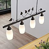 Lindby LED Pendelleuchte 'Isalie' in Schwarz aus Metall u.a. für Wohnzimmer & Esszimmer (4 flammig, E14, A++, inkl. Leuchtmittel) - Hängeleuchte, Esstischlampe, Hängelampe, Hängeleuchte
