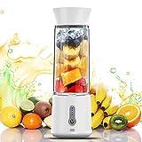 Tragbarer Mixer, 16.9 Oz Mini Standmixer, 4000mAh Usb Wiederaufladbar Persönlicher Juice Blender, 150 Watt Entsafter mit 6 Edelstahlmesser, Smoothie Maker Inkl für Saft, Milkshake, Protein, Fitness