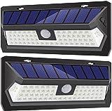 LED Strahler Außen 2er Pack Solarstrahler Im Freien Mit 3 Beleuchtungsmodi | IP65 Wasserdichte Sicherheitsarbeitsleuchte Wird Für Die Gartengaragenbeleuchtung Im Innenhof Verwendet Außen-Sicherheitsbe
