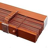 Holz Jalousien Verdunkelungsrollos Aus Holz für Innenfenster, Zuhause/Büro/Küche/Balkon Horizontale Fensterläden mit 5 cm Lamellen (Size : 70×140cm/27.6×55.1in)