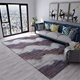 Kunsen betten Wohnzimmer Teppichgrau Grey Purple Crystal Samt Komfortabel und langlebig Teppich hell Kinder teppiche 80X120CM 2ft 7.5' X3ft 11.2'
