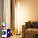 LED Stehlampe Dimmbar mit Fernbedienung, Oraymin 11W Wifi Stehleuchte mit Multi RGB Farben und 3000K Warmem Licht,Nachttischlampe App-Steuerung, RGB Farbwechsel Modi und Zeitschaltuhrfunktion
