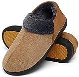 Mishansha Hausschuhe Herren Winter Warme Memory Foam Pantoffeln rutschfeste Slippers Männer Indoor Winterschuhe Siegel Braun Gr.43
