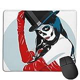 Mousepad Sugar Skull Girl Zylinder Rote Mausmatte, mittelgroßes Gaming-Mauspad mit wasserfester Oberfläche, rutschfeste Gummibasis