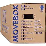 10 x Umzugskartons Movebox 2-wellig doppelter Boden in Profi Qualität 634 x 290 x 326