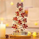 4D Pop-up-Weihnachtskarte, fröhliche Weihnachtsgrußkarte, Geschenk, Dekoration. Jingle Glocken, Bogen, Geschenk, Baum immergrünen Nadelbaum Weihnachtsstern Feier Karte