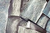 3D Tapete Stein Papier Stein Strukturierte Tapete Peel & Stick Selbstklebende Tapete Vintage Dunkelgrauer Steinkiesstein Tapete Druckpapier für Wanddekor Filmrolle
