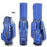 Chyuanhua Golftasche Golf-Herren- und Damen-Trolley-Kugelscheibenscheibe Kann als Standbeutel verwendet Werden (Farbe : Blau, Size : 126x23x43cm)
