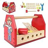 ISO TRADE Werkzeugkasten Ink. Werkzeug und Bauelementen Spielwerkzeug ab 3 Jahre 16-TLG 11225