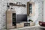 Küchen-Preisbombe TOP Wohnwand Tango Anbauwand Wohnkombi Wohnzimmer Sonoma Eiche matt