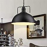 L.W.S ein Kronleuchter 30 cm Industrielle Metall Pendelleuchte Antiken Stil Lampenschirme Fit for Edison Glühbirne Küchenleuchten Schwarz Ohne Glühbirne