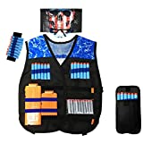 DAUERHAFT Weste Wear Resistant Soft Bullets Spiel Weste, Cosplay, Outdoor, Spiel(Blue Eagle Vest)