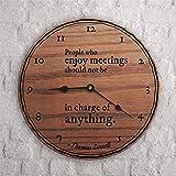 Lustige Wanduhr aus Holz, batteriebetrieben, 30,5 cm