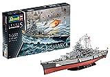 Revell RV05040 REV-05040 Bismarck, das größte und modernste Schlachtschiff Seiner Zeit, Schiffsbausatz 1:350, 71,8cm Maßstabsgetreu Toys, unlackiert